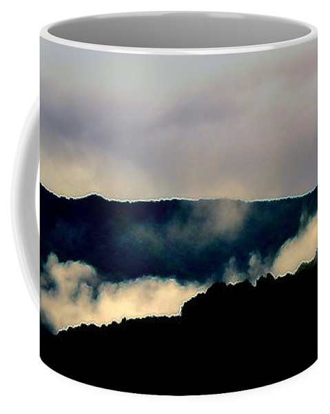 Mountains Coffee Mug featuring the photograph Blue Ridge Parkway Abstract by Kathy Barney