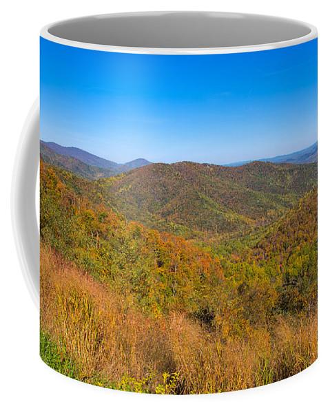 Landscape Coffee Mug featuring the photograph Blue Ridge Vista by John M Bailey