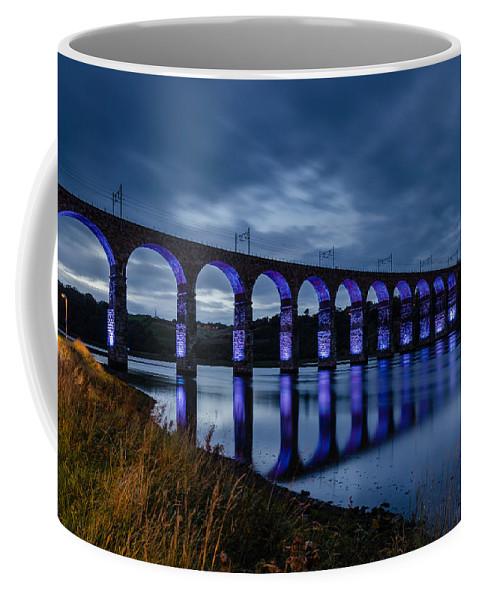 Northumberland Coffee Mug featuring the photograph Blue Royal Border Bridge by David Head