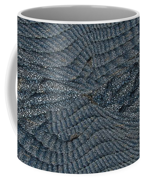 Abstract Coffee Mug featuring the digital art Blue Sheets by Tim Allen