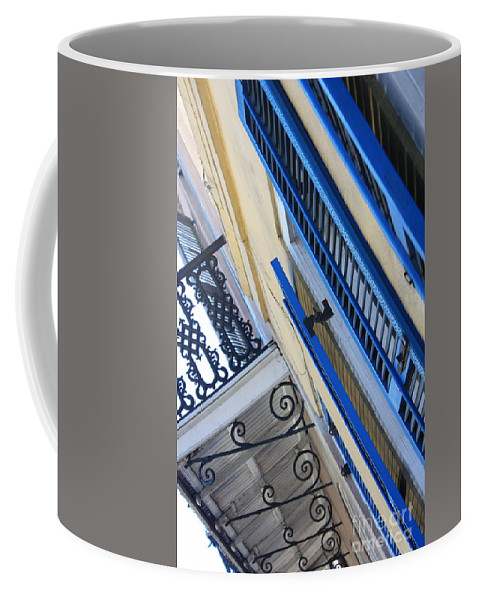 New Orleans Coffee Mug featuring the photograph Blue Shutters In New Orleans by Carol Groenen