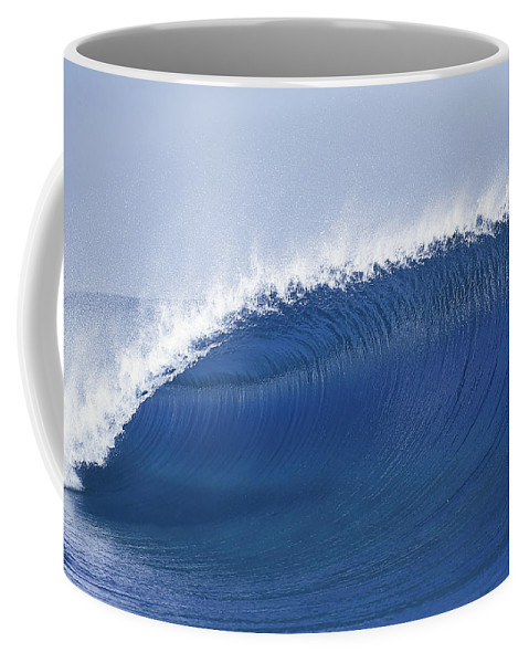 Sea Wave Coffee Mug featuring the photograph Blue Spinner by Sean Davey