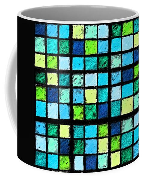 Photo Manipulation Coffee Mug featuring the photograph Blue Sudoku by Karen Adams