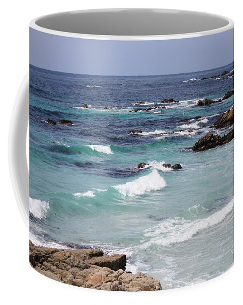 Blue Surf Coffee Mug featuring the photograph Blue Surf by Carol Groenen