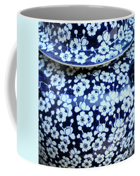Vietnam Coffee Mug featuring the photograph Blue Vase by Rick Piper Photography
