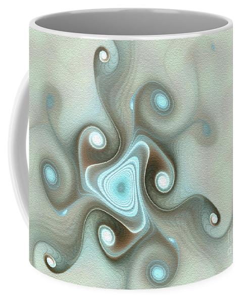 Abstract Coffee Mug featuring the digital art Blue Wave by Svetlana Nikolova