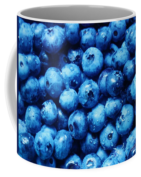 Blueberries Coffee Mug featuring the photograph Blueberries by Janell R Colburn