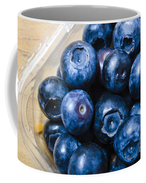Food Coffee Mug featuring the photograph Blueberries Punnet by Jorgo Photography - Wall Art Gallery