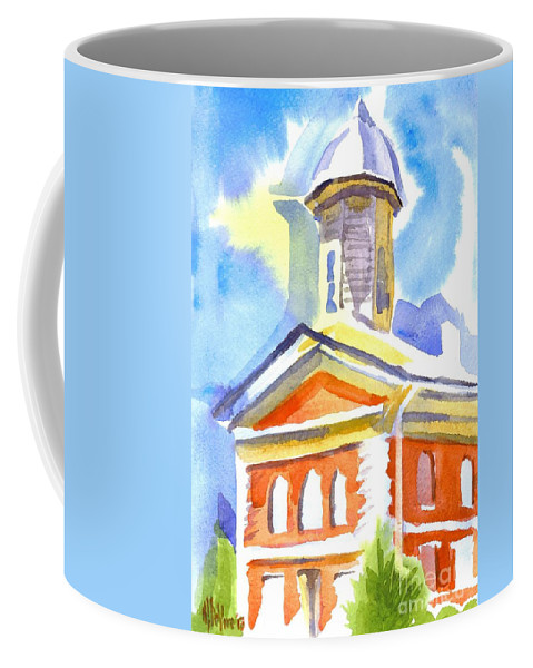 Blueberry Courthouse Coffee Mug featuring the painting Blueberry Courthouse by Kip DeVore