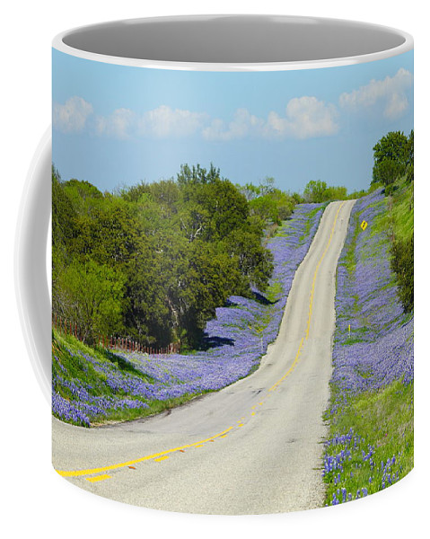Texas Coffee Mug featuring the photograph Bluebonnet Highway 2am-28667 by Andrew McInnes