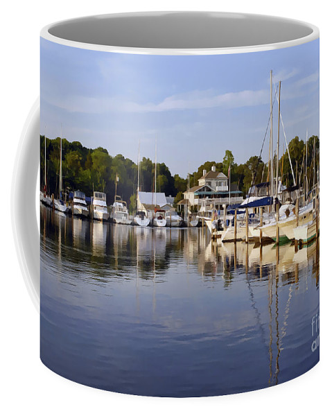 Landscape Coffee Mug featuring the photograph Bluer Than Blue  Painted by Sami Martin