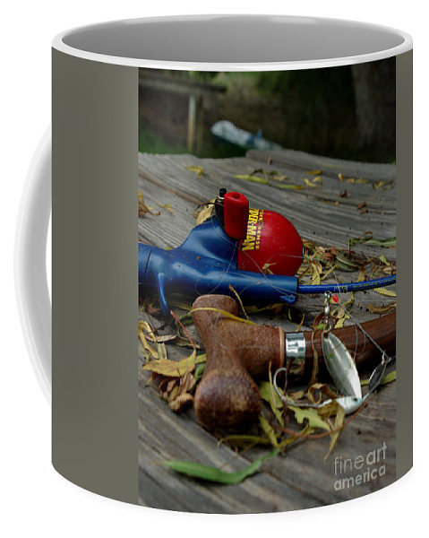 Angling Coffee Mug featuring the photograph Blured Memories 01 by Peter Piatt