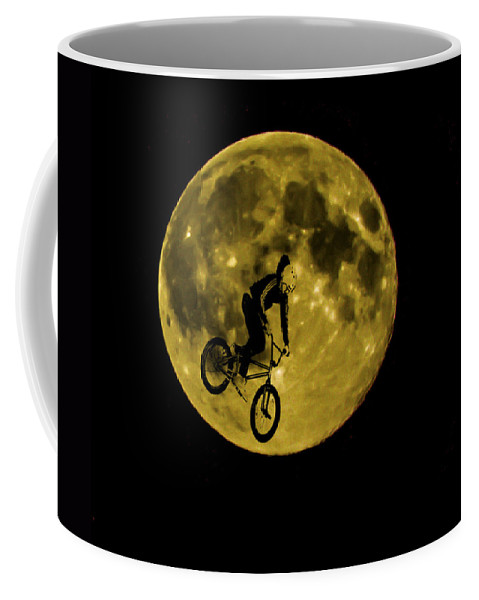 Moon Coffee Mug featuring the photograph Bmx Moon by Dawn OConnor