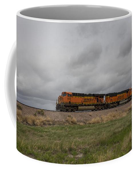 Bnsf Coffee Mug featuring the photograph Bnsf Train 5833 B by John Brueske