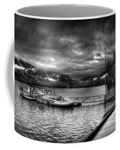 Glacier National Park Coffee Mug featuring the photograph Boat Dock At Sperry Chalet 2 by Lee Santa