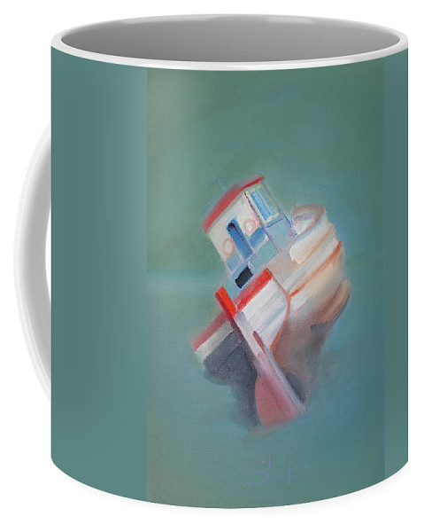 Fishing Boat Coffee Mug featuring the painting Boat Retired Tavira by Charles Stuart