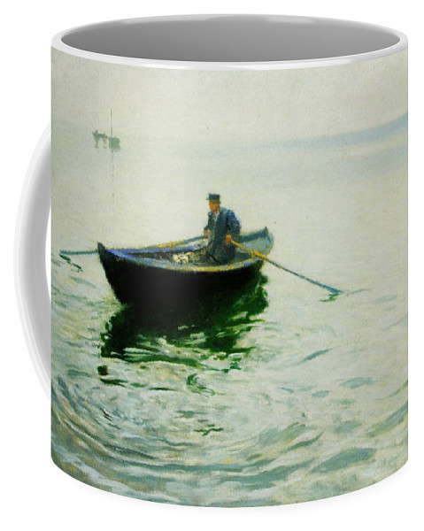 Boat Trip Coffee Mug featuring the painting Boat Trip by Celestial Images