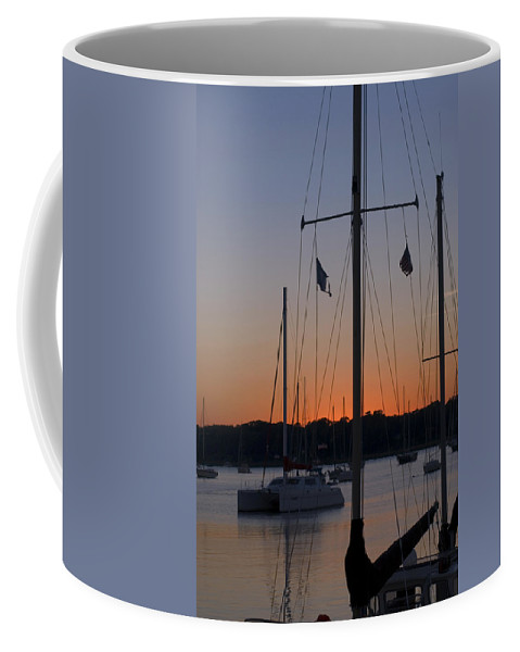Ships At Harbor Beaufort South Carolina Coffee Mug featuring the photograph Boats At Beaufort by Bob Pardue