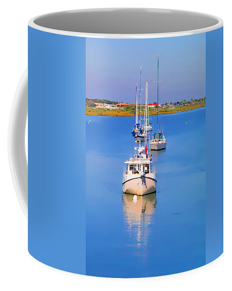 Boats Coffee Mug featuring the photograph Boats In A Row by Alice Gipson