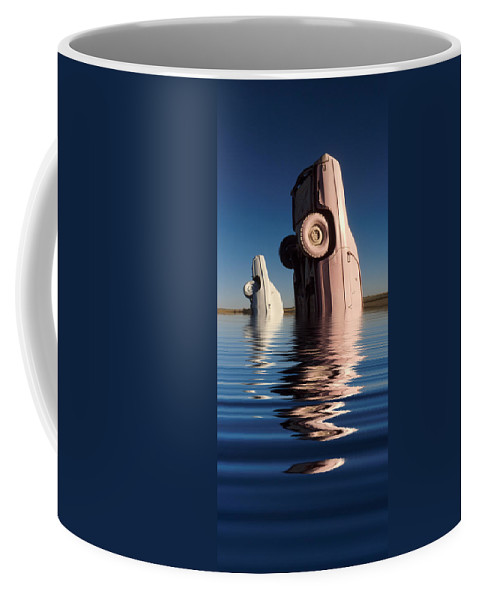 Cadillac Coffee Mug featuring the photograph Bobbing For Carburetors by Jerry McElroy