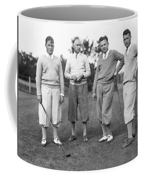 1927 Coffee Mug featuring the photograph Bobby Jones And Friends by Underwood Archives