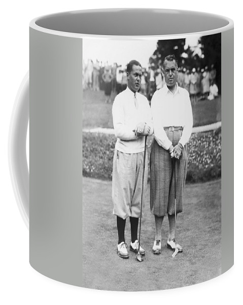 1929 Coffee Mug featuring the photograph Bobby Jones At Pebble Beach by Underwood Archives