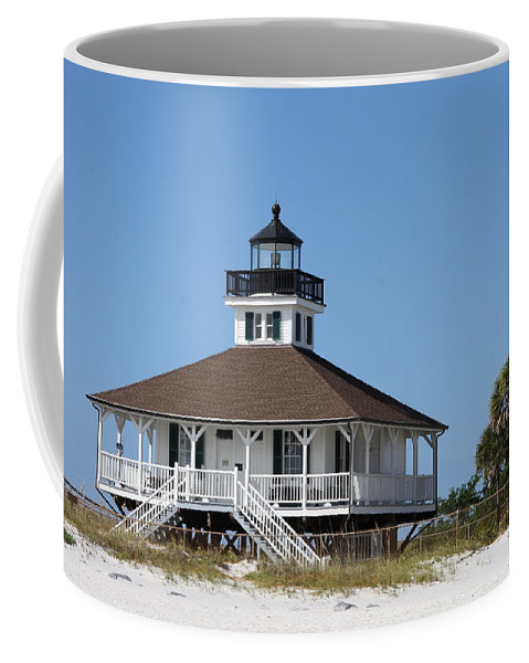 Port Boca Grande Lighthouse Coffee Mug featuring the photograph Boca Grande Light by Christiane Schulze Art And Photography