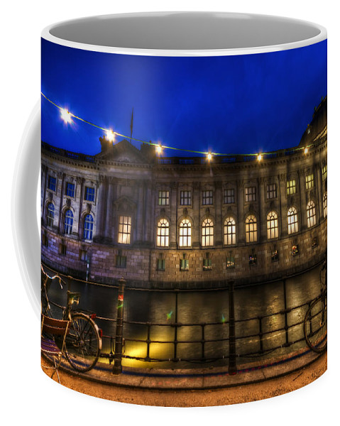 Berlin Coffee Mug featuring the digital art Bode Bikes by Nathan Wright