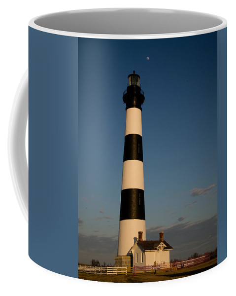 Lighthouse Coffee Mug featuring the photograph Bodie Island Lighthouse by Stacy Abbott