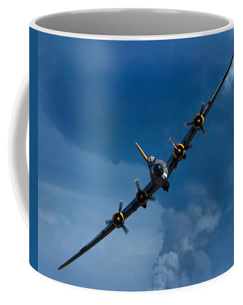 3scape Photos Coffee Mug featuring the photograph Boeing B-17 Flying Fortress by Adam Romanowicz