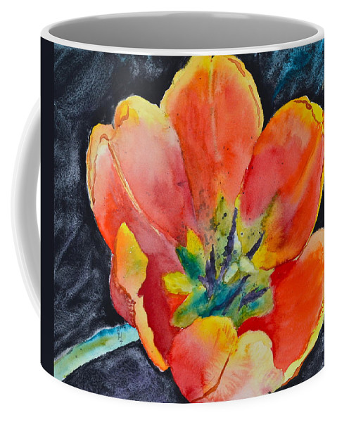 Tulip Coffee Mug featuring the painting Bold by Beverley Harper Tinsley