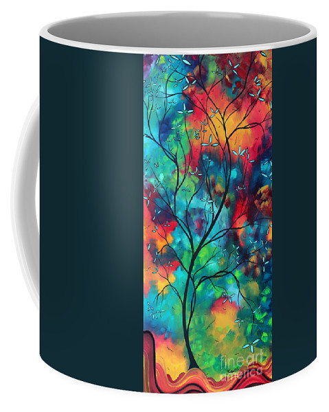 Abstract Coffee Mug featuring the painting Bold Rich Colorful Landscape Painting Original Art COLORED INSPIRATION by MADART by Megan Duncanson