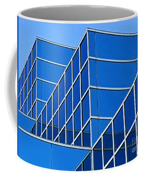 Building Coffee Mug featuring the photograph Boldly Blue by Ann Horn