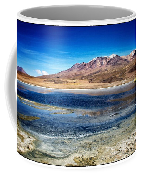 Lake Coffee Mug featuring the photograph Bolivia Desert Lake Framed by For Ninety One Days