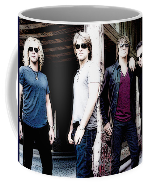 Singers Coffee Mug featuring the photograph Bon Jovi by Lyriel Lyra