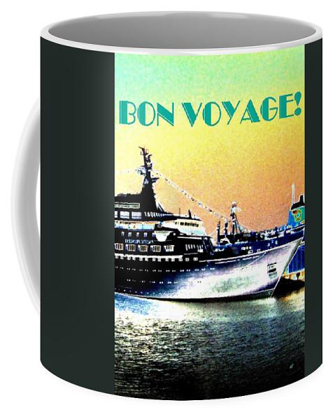 Bon Voyage Coffee Mug featuring the digital art Bon Voyage by Will Borden