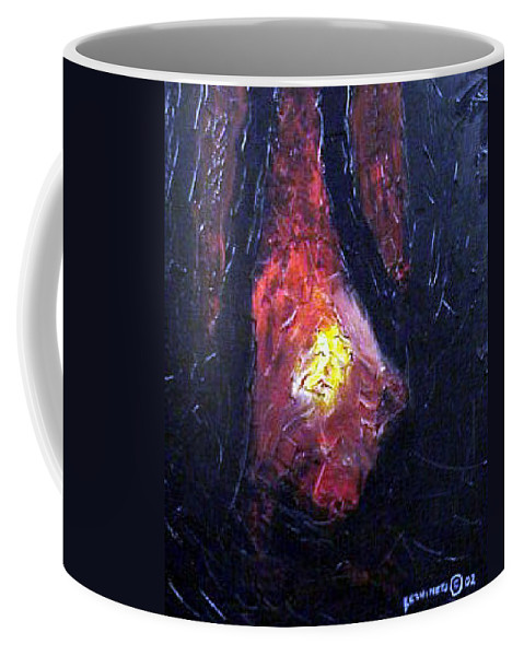 Landscape Coffee Mug featuring the painting Bonefire by Sergey Bezhinets