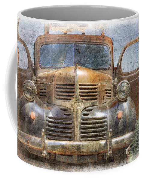 American Coffee Mug featuring the photograph Bonnie And Clyde by Debra and Dave Vanderlaan