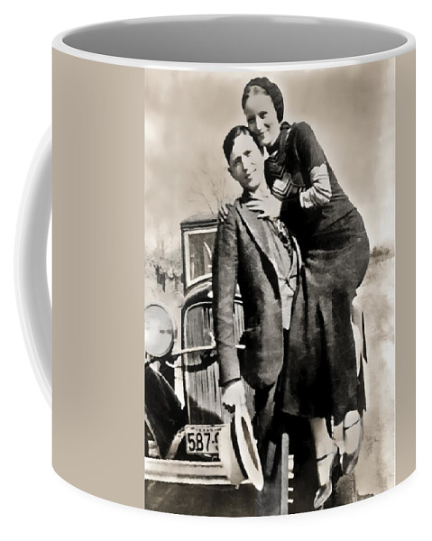 bonnie And Clyde Coffee Mug featuring the photograph Bonnie And Clyde - Texas by Daniel Hagerman