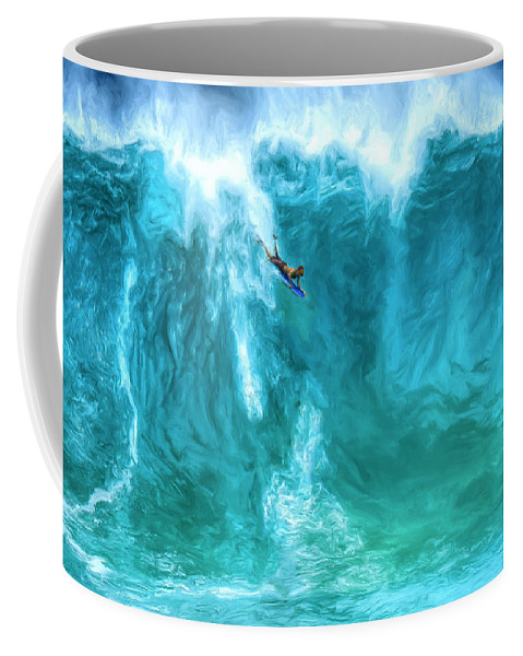 Boogie Board Coffee Mug featuring the painting Boogie On Down by Dominic Piperata