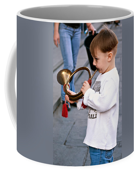 Boogie Woogie Bugle Boy Coffee Mug featuring the photograph Boogie Woogie Bugle Boy by Steve Harrington