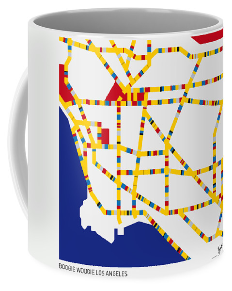 Minimal Coffee Mug featuring the digital art Boogie Woogie Los Angeles by Chungkong Art