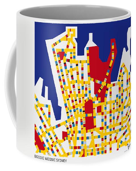 Minimal Coffee Mug featuring the digital art Boogie Woogie Sydney by Chungkong Art