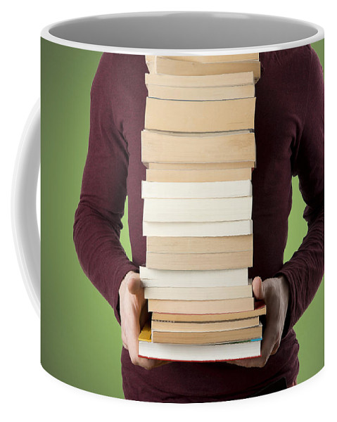 Book Coffee Mug featuring the photograph Books by Chevy Fleet