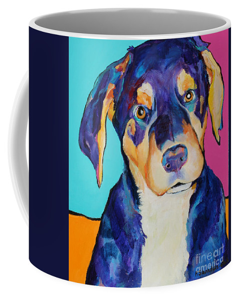 Pat Saunders-white Coffee Mug featuring the painting Boone by Pat Saunders-White