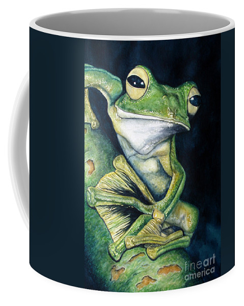 Frog Coffee Mug featuring the painting Boreal Flyer Tree Frog by Joey Nash
