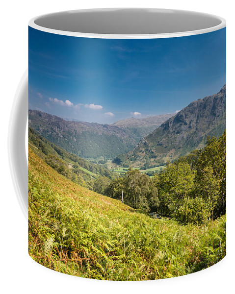 Blue Coffee Mug featuring the photograph Borrowdale by David Head