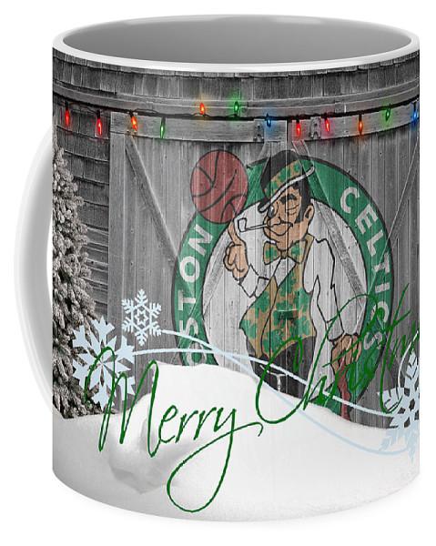 Celtics Coffee Mug featuring the photograph Boston Celtics by Joe Hamilton
