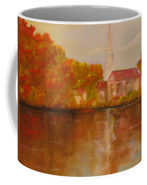 Church Coffee Mug featuring the painting Boston by Lord Frederick Lyle Morris