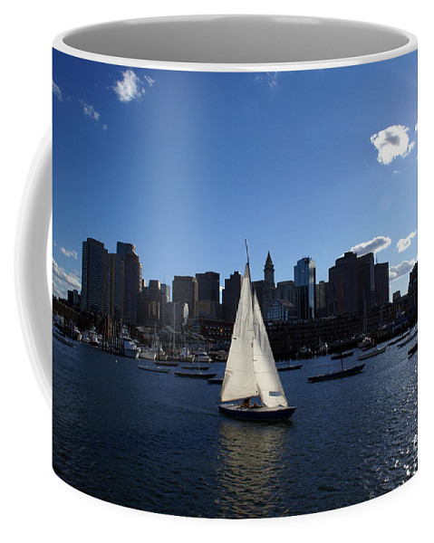Boston Coffee Mug featuring the photograph Boston Harbor by Olivier Le Queinec
